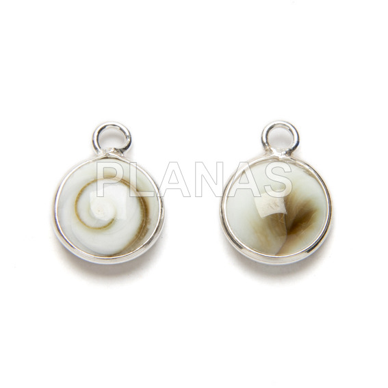 Mini pendant in sterling silver, 10x10mm.
