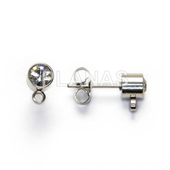 Base steel earring