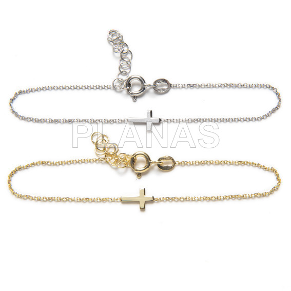 Bracelet in sterling silver rodiada.simbolo mujer.