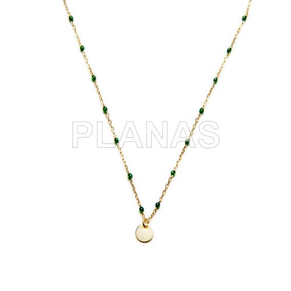 Rhodium silver necklace act.