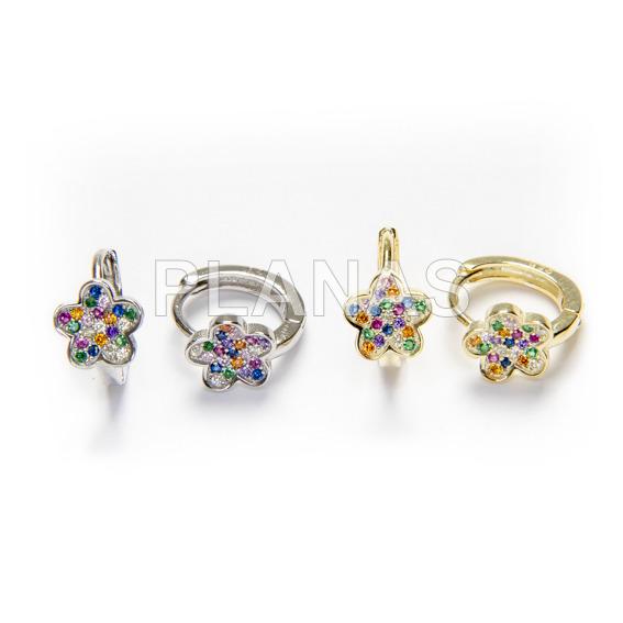 Earrings in sterling silver.