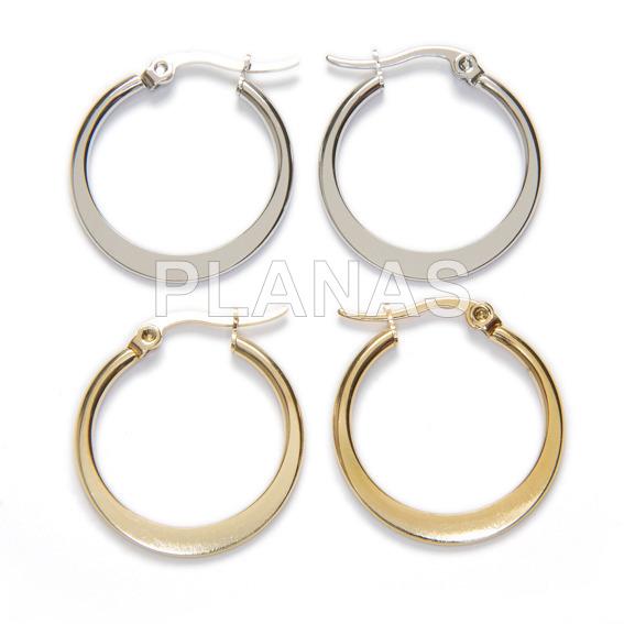 Steel earring