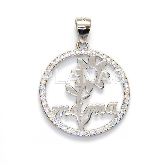 Sterling silver pendant for mama.