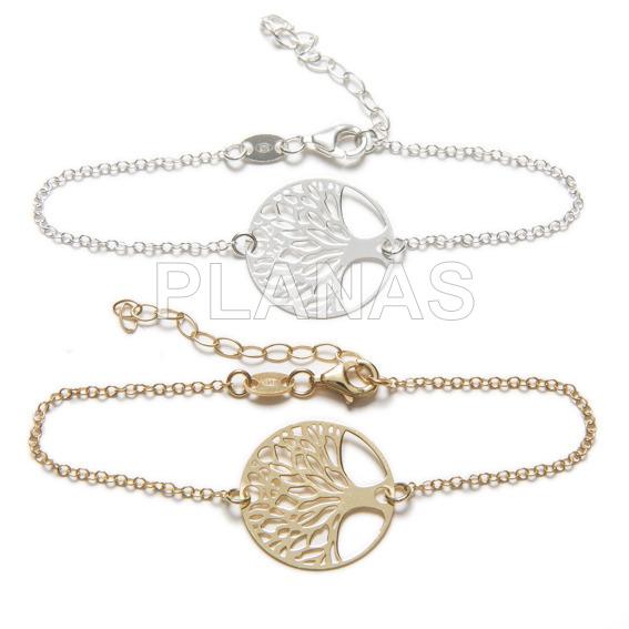 Sterling silver bracelet tree of life.