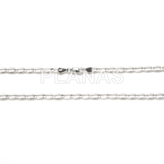 Cheval chain in sterling silver.