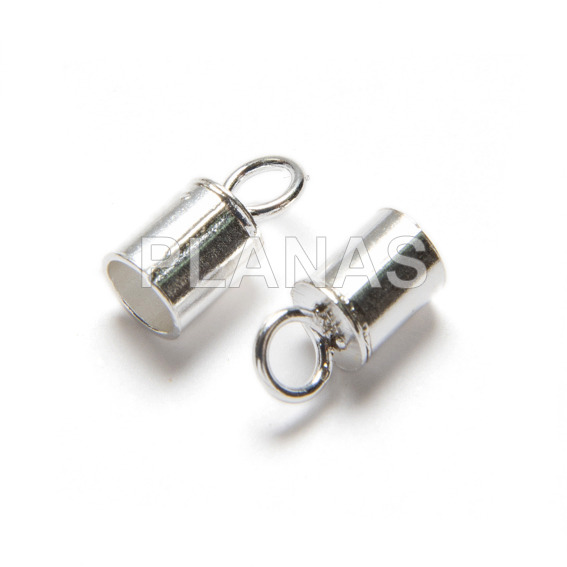 Closed terminal 3mm silver.