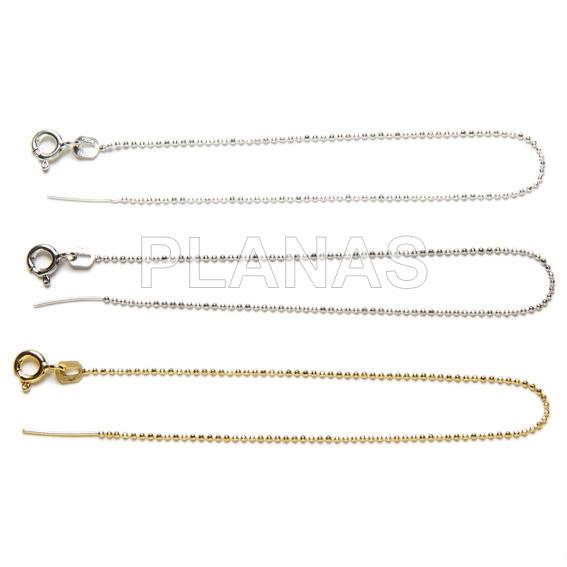 Open diamond balls bracelet in sterling silver to finish. 15 + 1cm.