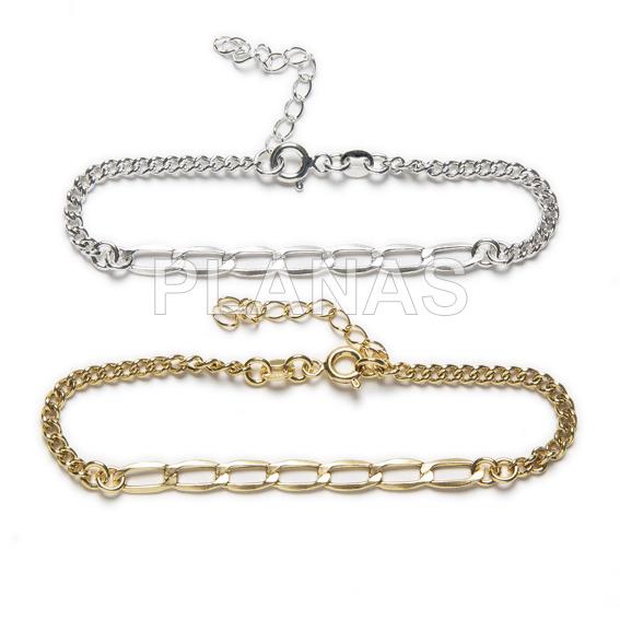 Sterling silver link bracelet.