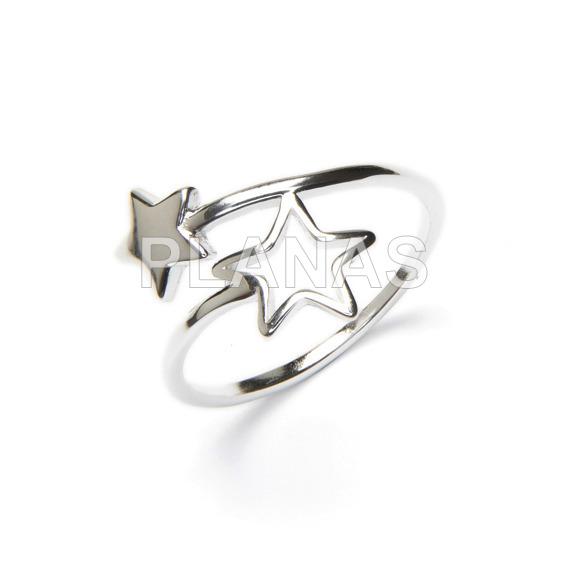 Sterling silver ring stars.