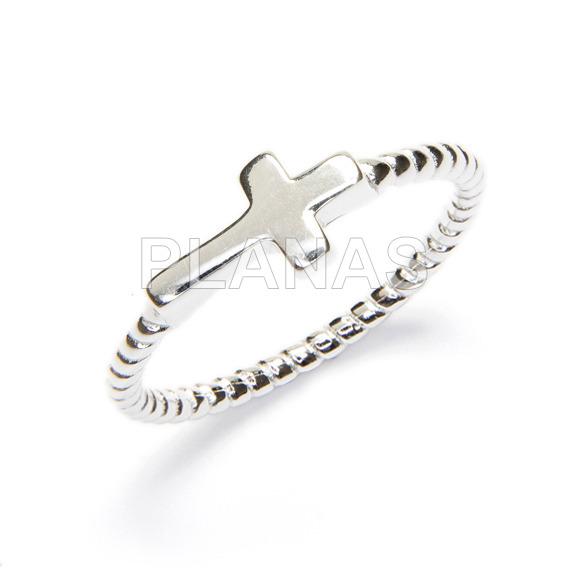 Ring in sterling silver.cruz.