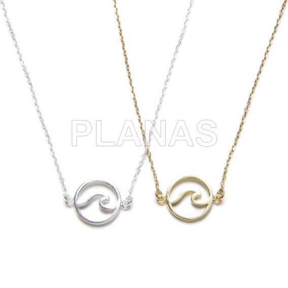 Necklace in sterling silver .ola.