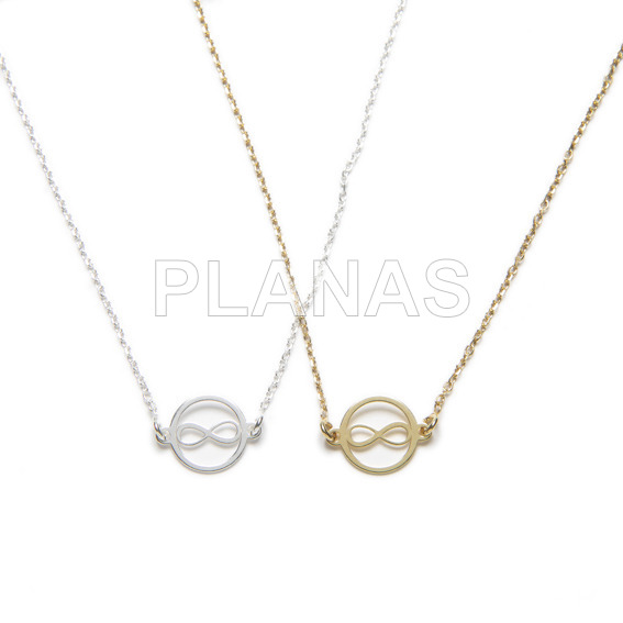 Necklace in sterling silver.infinite.