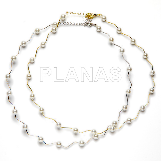 a67c2b1b679e Collar en Plata de ley y perla Shell de 6mm.