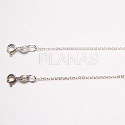 Rolo chain sterling silver diamond products 1 mm.