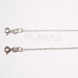 Cadena Rolo Diamantada en Plata de Ley de 1mm.
