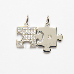 salida online más cerca de mejor sitio Colgante Puzzle en Plata de Ley.
