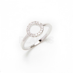Ring in sterling silver and zircons