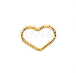 Silueta Corazón en Plata de Ley.11x15x1.