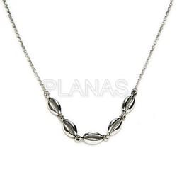 mejor online ofertas exclusivas muy agradable Collar CONCHAS en Plata de Ley.