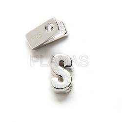 Interpiece sterling silver letter.