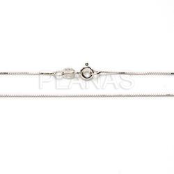 Venetian chain in sterling silver 45cm.