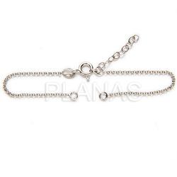 Open square bracelet in sterling silver.