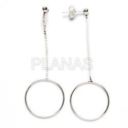 Clover earring in sterling silver.