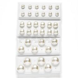 Pendientes en plata de ley y perla Cultivada Sintetica,Color Blanco.