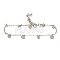 Sterling silver bracelet with inserts.