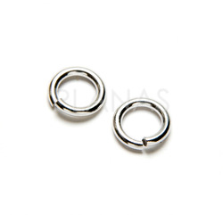 Silver rings open 6x4x1mm