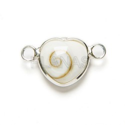 Trebol interpiece sterling silver.