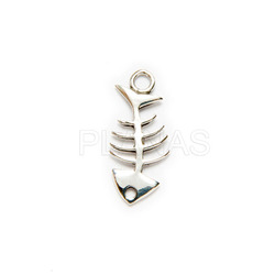 Interpiece sterling silver fish