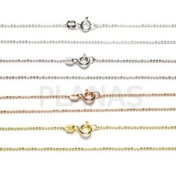 Cadenas Bolitas Diamantadas en Plata de Ley y Baño de Oro