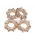 Micro pave donut brass