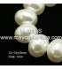 Glass bead 15x12mm