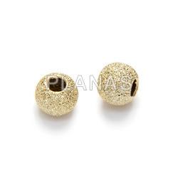 Silver diamond ball 5mm