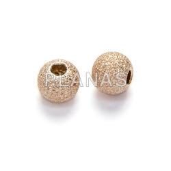Silver diamond ball 4mm