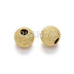 Silver diamond ball 6mm