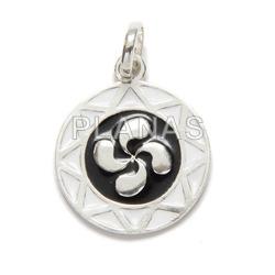 Pendant in sterling silver star of david.