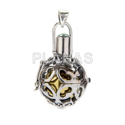 Llamador de Angel en plata de ley.20mm.
