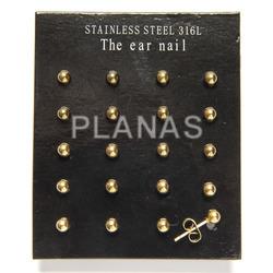 Steel cross earrings gold and bathroom.
