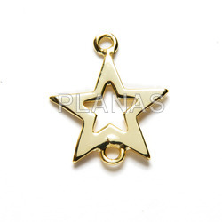 Interpiece sterling silver star.