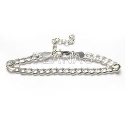 Sterling silver anklet.