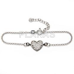Rhodium silver bracelet act.