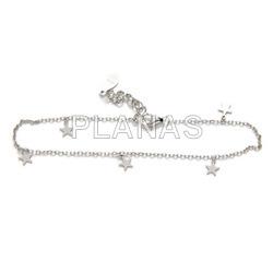 Sterling silver bracelet.