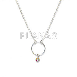 Set in sterling silver of 3 pieces and swarovski pearl.