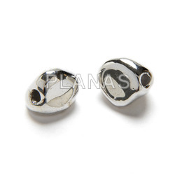 11mm sterling silver irregular ball with 2mm hole.