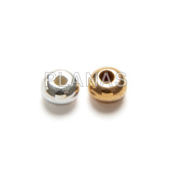 3mm sterling silver donut with a 0.5mm hole.