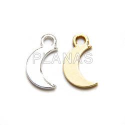 Mini pendants in sterling silver, luna.