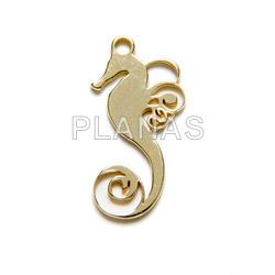 Mini pendant in sterling silver, sea horse.